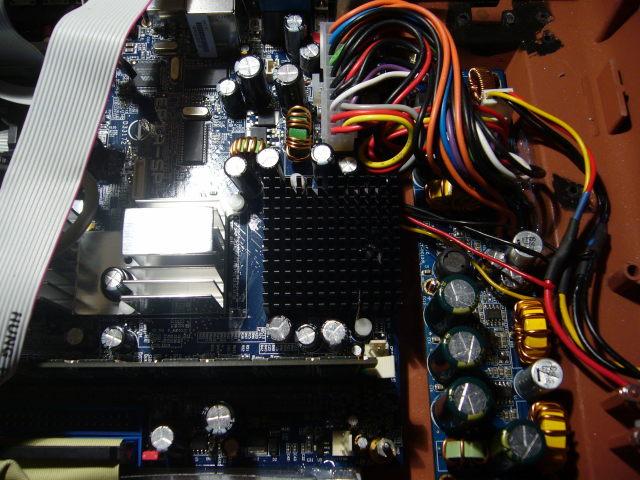 486er-KK auf dem Prozessor montiert