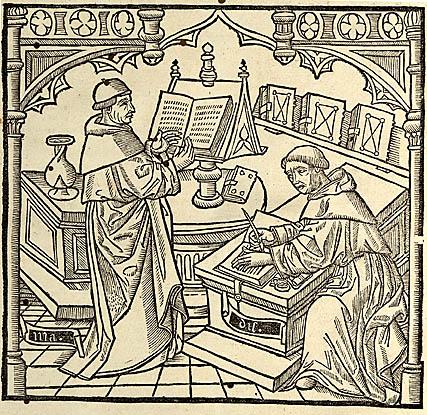 Klösterliche Schreibstube (Q: Gutenberg digital)