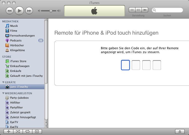 neuen iphone code eingeben