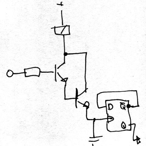 Erste Entwürfe einer Darlington-Schaltung für die Lampe