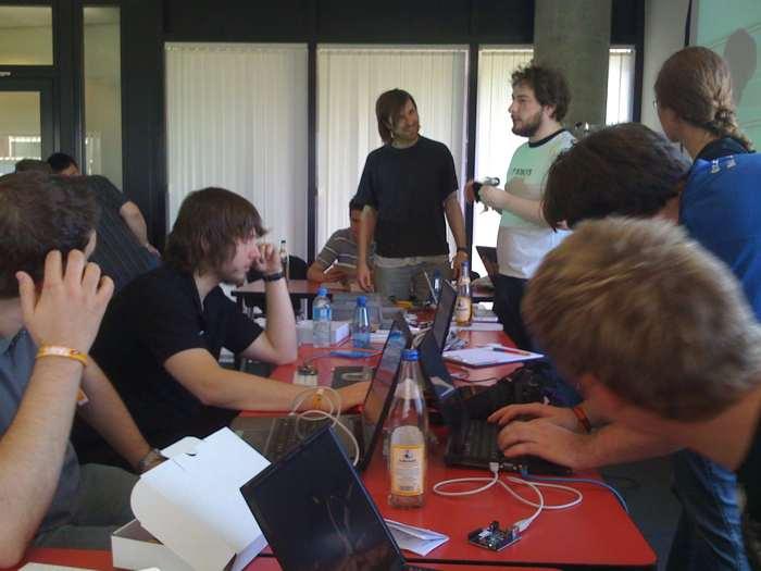 Knobeln an Arduino-Library-Problemen auf der Sigint 09