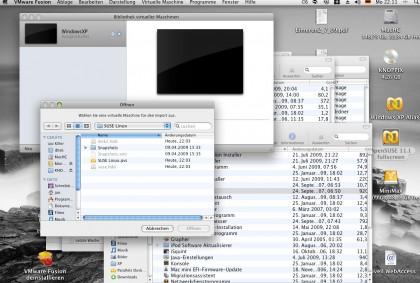 VMware Fusion importiert eine Parallels-Maschine