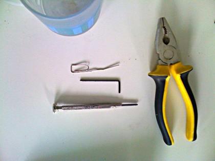 Nötiges Werkzeug (siehe Text)