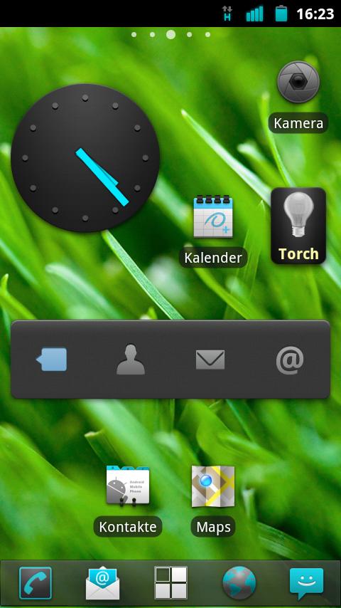Cyanogenmod 7.2RC2 auf dem Motorola Defy, Home