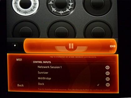 Loopy HD erkennt das Dock ohne Probleme - trotz zwischengeschleiften Hubs.