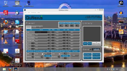 Der QuNexus-Editor v1.0.1: Screenshot bei 1366x768