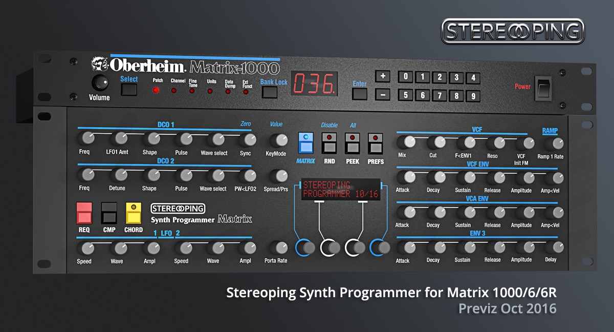 Stereoping Matrix 1000/6/6R controller, preliminary visualization Oct 2016. Source: stereoping.com