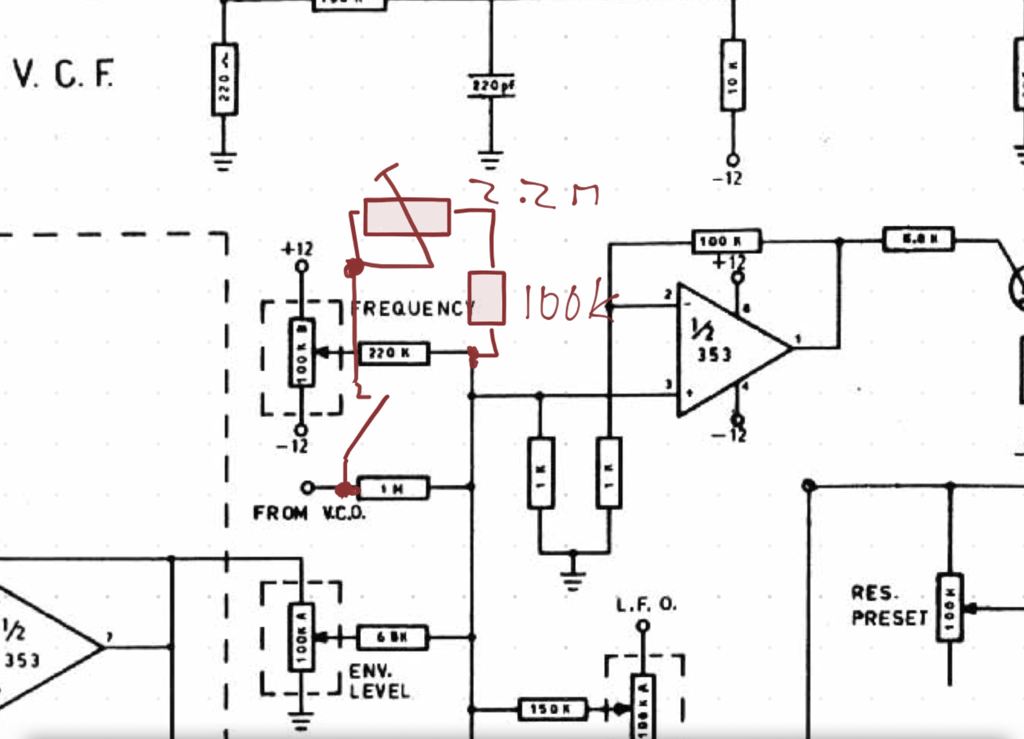 Excerpt of the JEN SX-1000 schematic