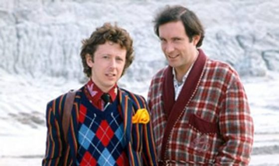 Ford Prefect and Arthur Dent - still from the BBC series