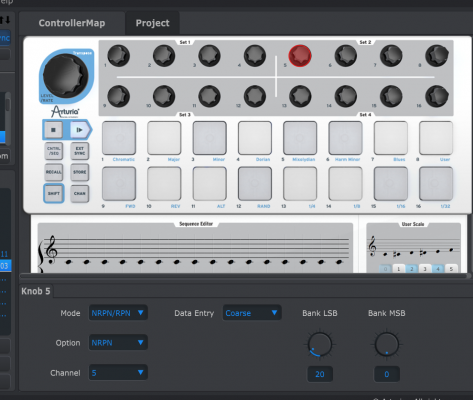Arturia MIDI Control Center screenshot